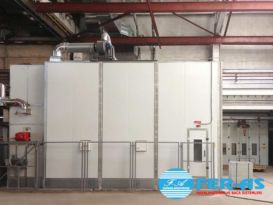 Boyahane Havalandırma Sistemleri - İmalat - Tamir - Boya Atölyesi havalandırma bacaları ve sistemleri